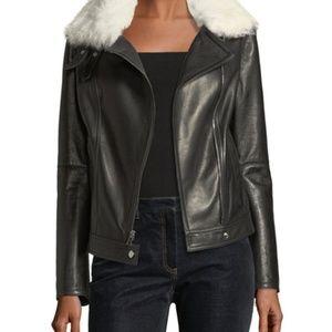 Theory Pomono B Wilmore Bonded Lamb Leather Jacket